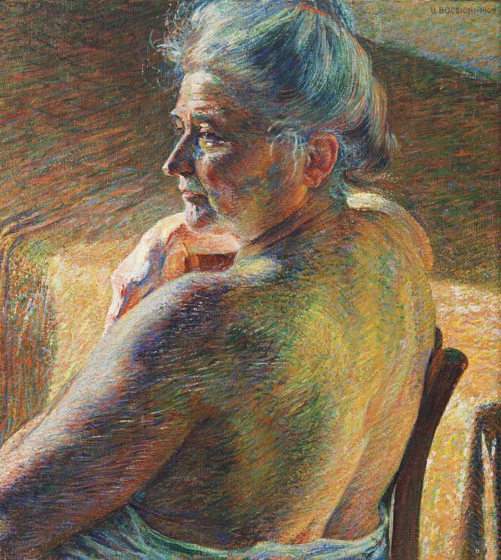 Umberto Boccioni - Nudo di spalle
