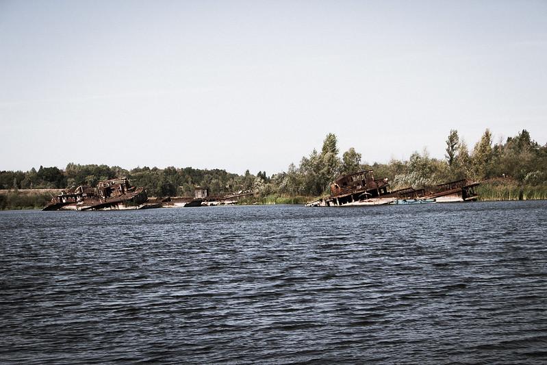 Junk boatyard