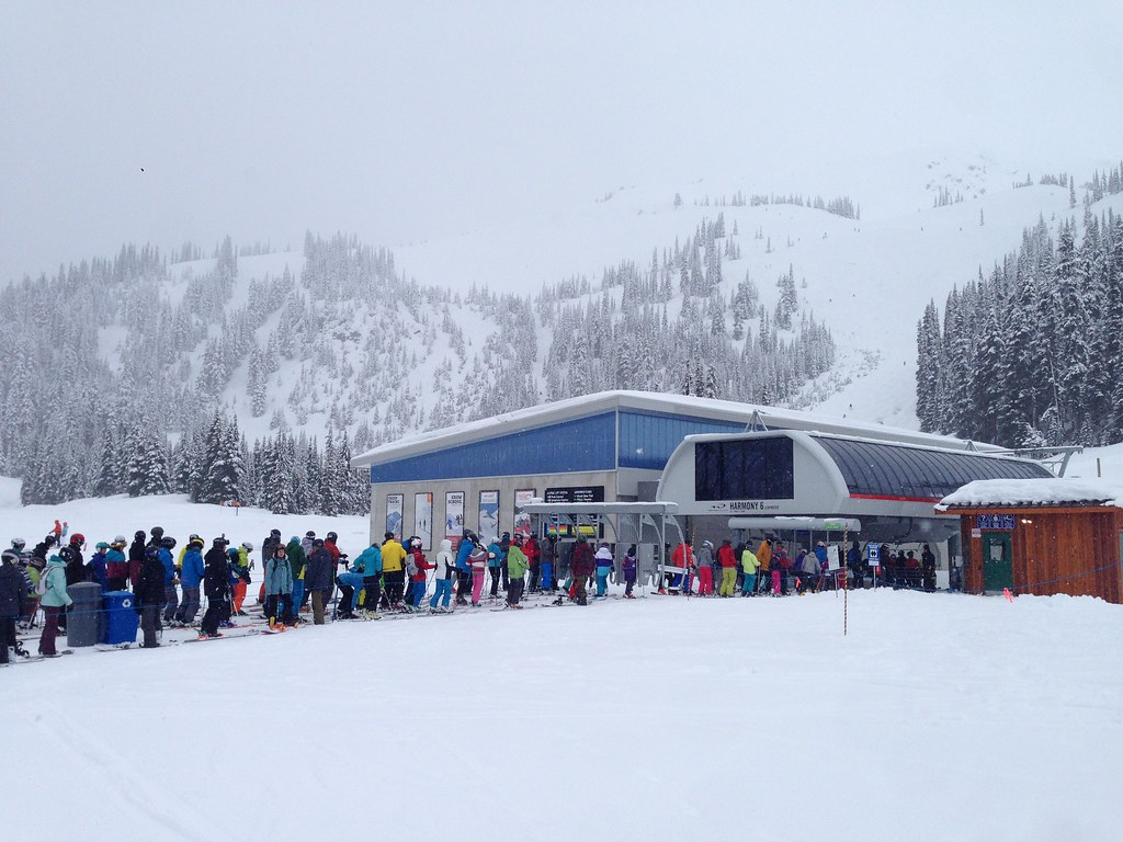Queues at Harmony Express Chairlift