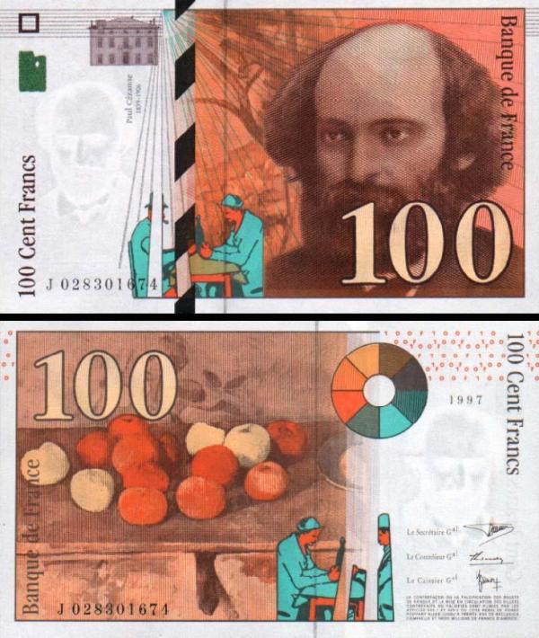 100 Frankov Francúzsko 1997, P158a