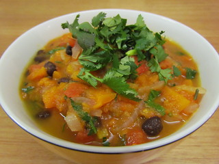 Yam & Black Bean Soup with Orange & Cilantro
