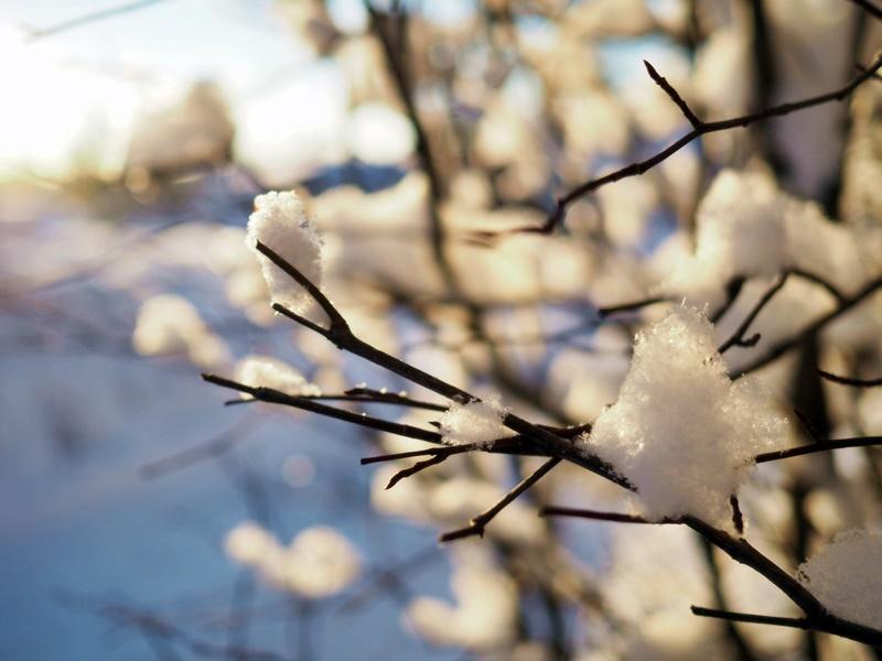 lumi auringonsäteet
