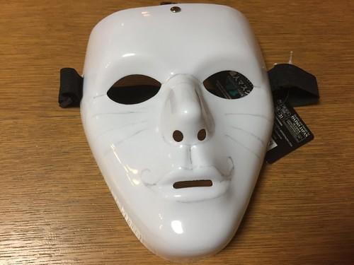 ハロウィンパーティーのドラえもんマスクの下書き
