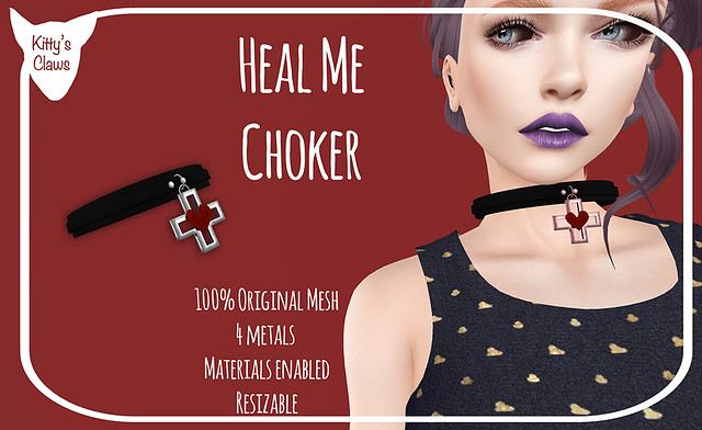 Kitty's Claws: Heal Me Choker NOW AT THE MAINSTORE AND MARKETPLACE