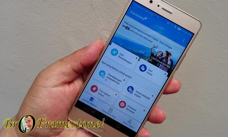 Aplikasi Traveloka di Telefon Pintar