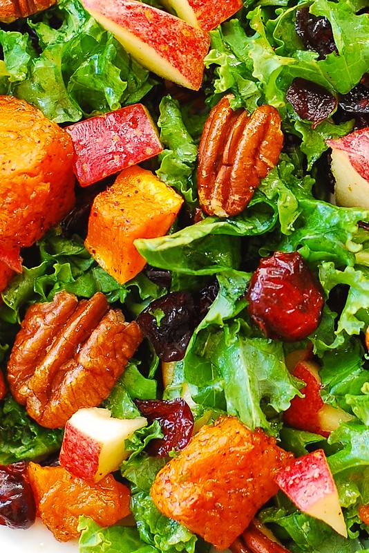 easy salad, quick salads, nuts, berries, winter salad, autumn salad