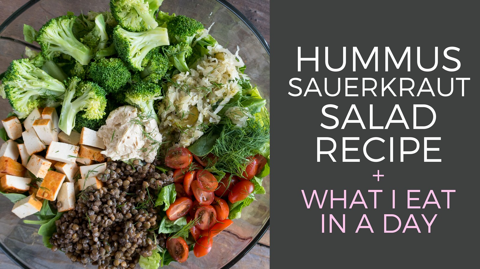 Easy Hummus Sauerkraut Salad sweetsimplevegan.com