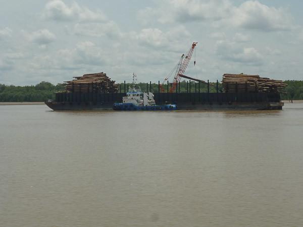 timber barge