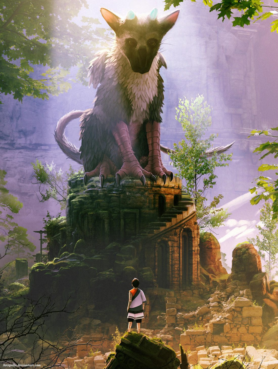The Incredible Fan Art Of The Last Guardian Playstation Blog Europe