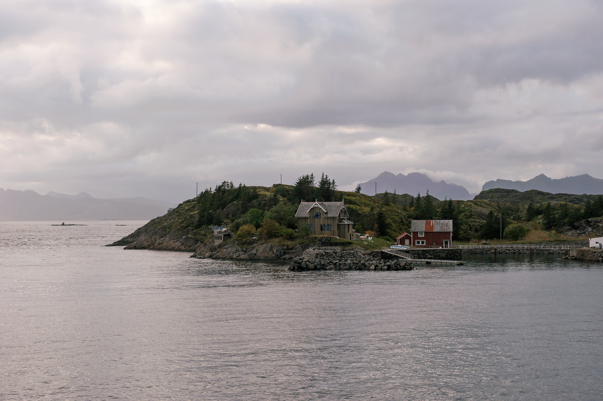 Cabins on the rocks