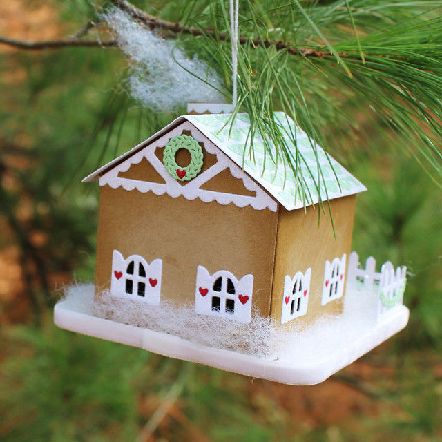 Gingerbread House Ornament Back