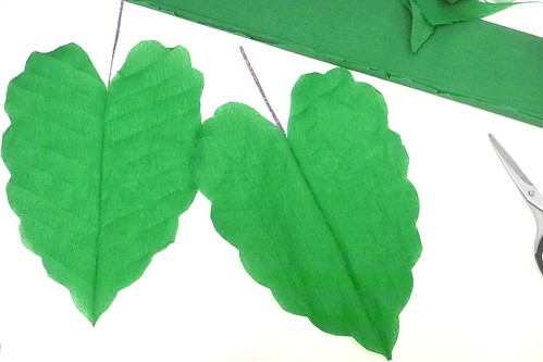 props for Sunday School lesson on Mark 11: green crepe fig leaves
