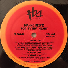 DIANNE REEVES:FOR EVERY HEART(LABEL SIDE-A)