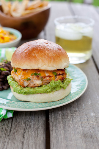 Jalapeño Cheddar Chicken Burgers with Guacamole | Annie's Eats | by ...