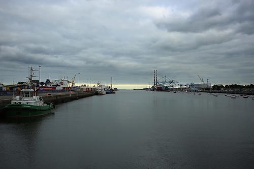 Porto di Dublino: una vista sull'estuario del Liffey
