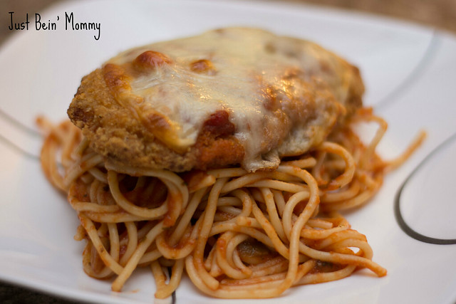 Easy Chicken Parmesan brought to you by IMODIUM