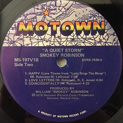 SMOKEY ROBINSON:A QUIET STORM(LABEL SIDE-B)
