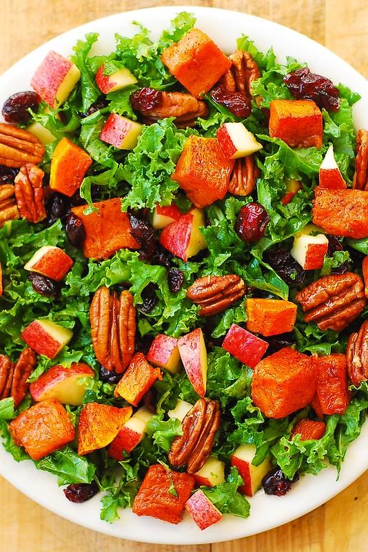 Butternut Squash, Kale, Pecan, Cranberry, Apple Salad ...