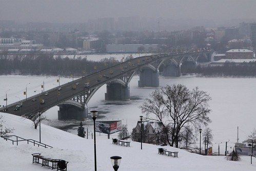 Канавинский мост (Kanavinskiy Bridge) over the Oka River