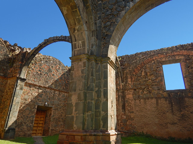 The monastery ruin in Mascota, a 'Pueblo Magico' on the Sierra Madres Occidental on the Pacific coast of Mexico