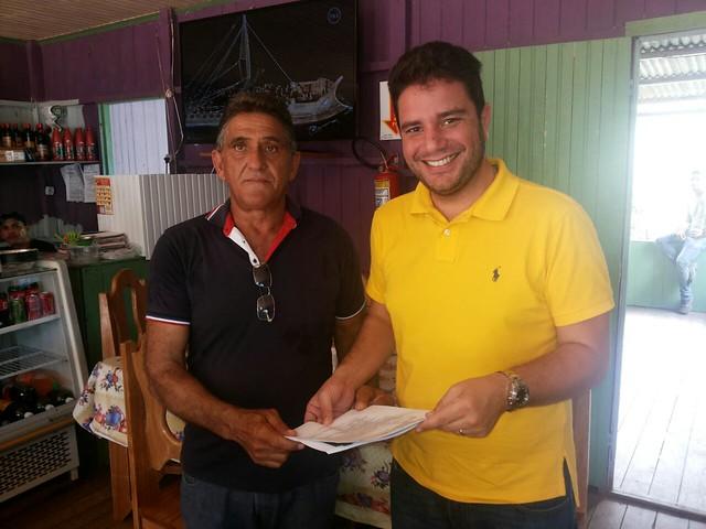 Senador Gladson e prefeito Ale Araújo - Manoel Urbano