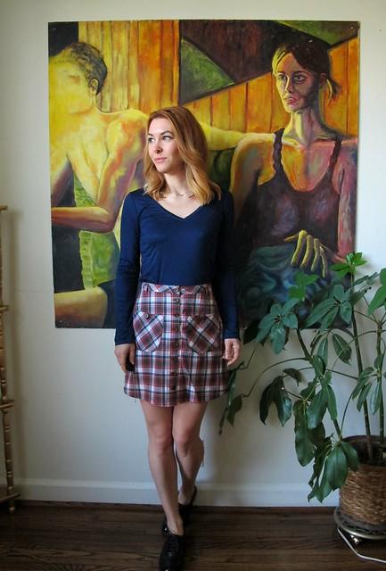 Plaid Rosari Skirt - front