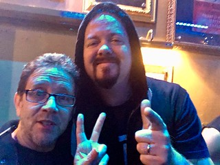 Cris Conway with Tom Englund from Evergrey