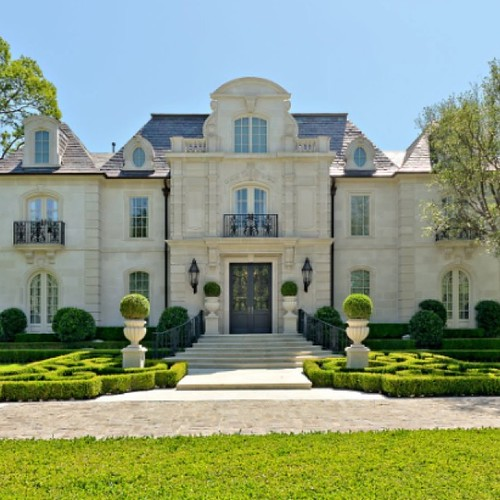 French Baroque House in Highland Park TX Architecture by