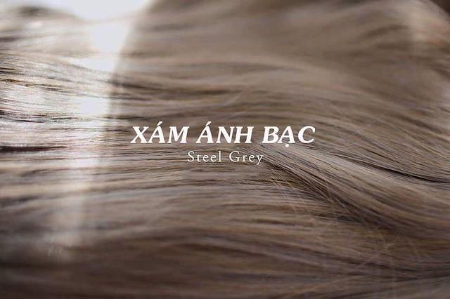 Màu tóc Xám ánh bạc