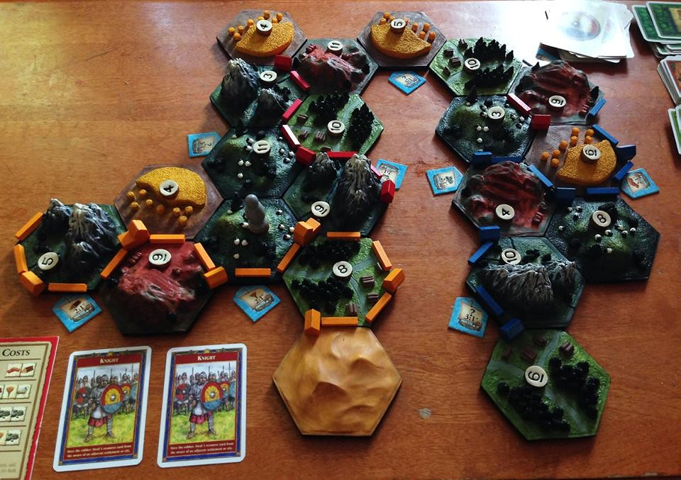 Custom 3D Settlers of Catan by Calder Kibyuk Designs