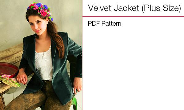 Velvet Jacket plus