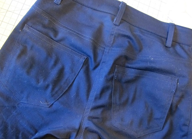 Navy Cotton twill Ginger Pants - flat