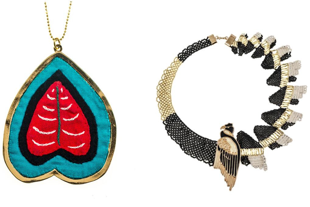 Makua Jewelry:Collar Romance Tule (Kuna) y Collar Cóndor de los Andes (Embera)