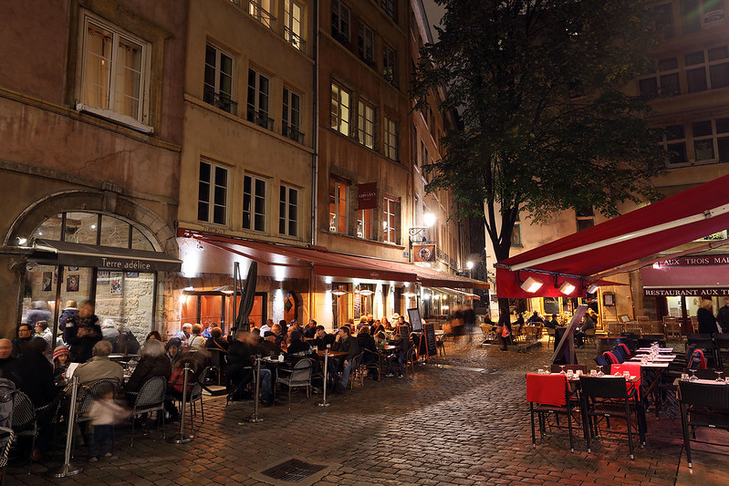 Vieux Lyon at night