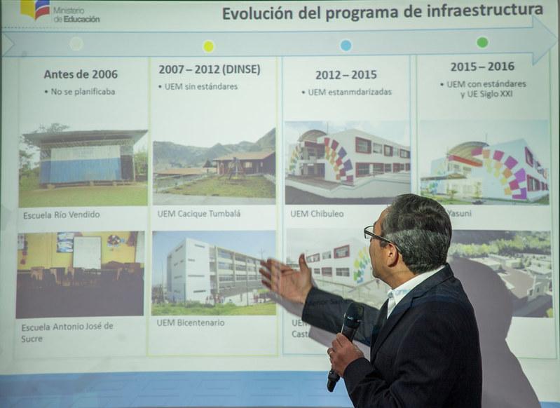 Diálogo con medios: Evolución de la infraestructura educativa