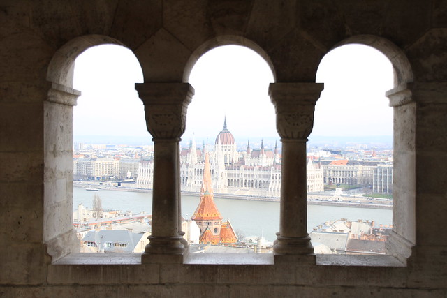 View across Pest from Fisherman's Bastion