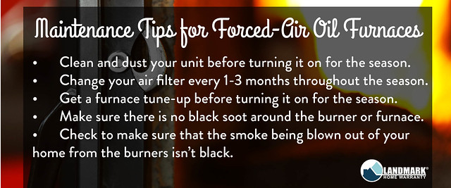Maintnenance Tips for Forced Air oil Furnaces