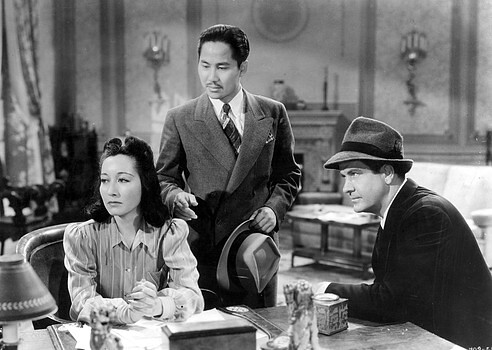 Lotus Long, Keye Luke, Grant Withers in PHANTOM OF CHINATOWN
