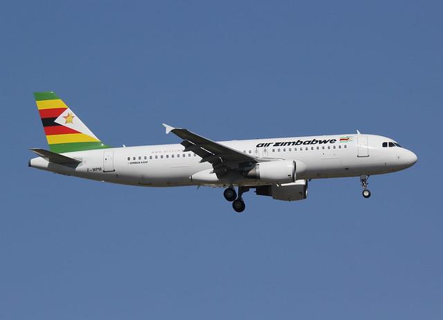 Air Zimbabwe A320-214 Z-WPM JNB 13.11.2013