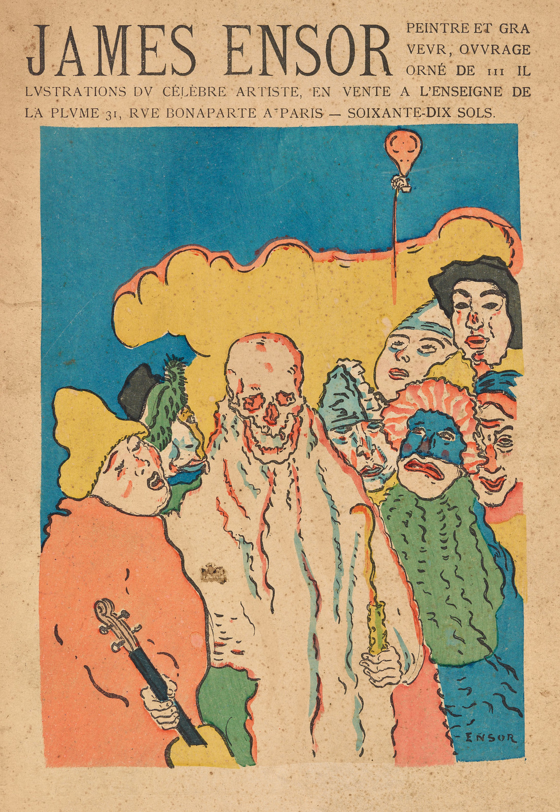 James Ensor - Cover art for Peintre and Graveur, 1899