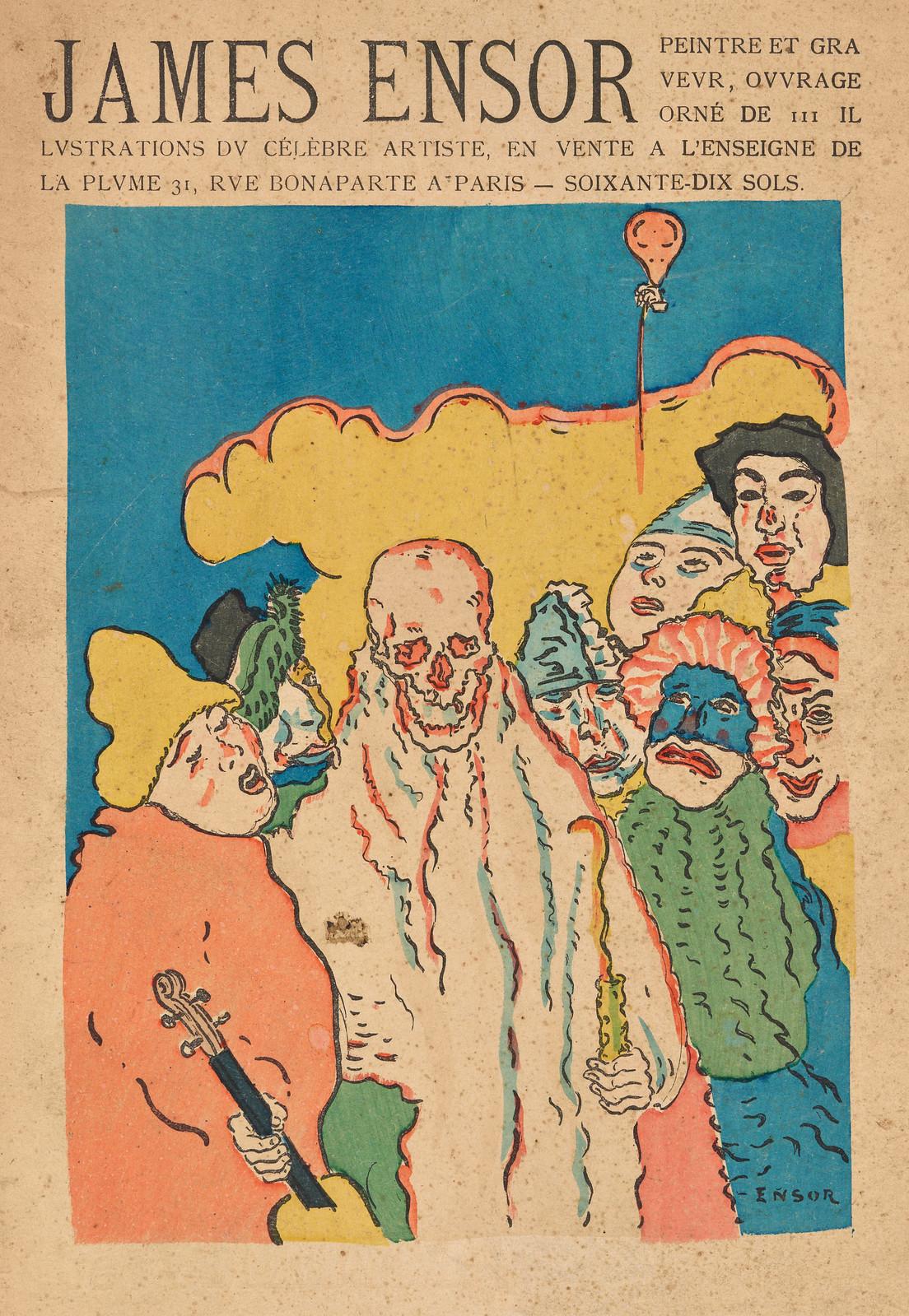 James Ensor - Cover art for Peintre and Graveur, 1899