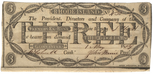 RI, Gloucester-Farmers Exchange B-$003 1808 cjf