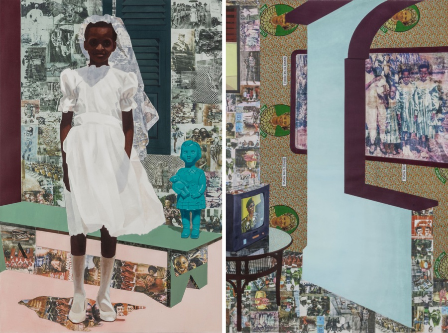 Paintings by Njideka Akunyili Crosby