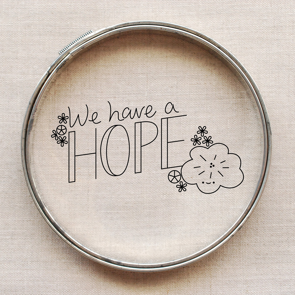 We Have A Hope embroidery pattern