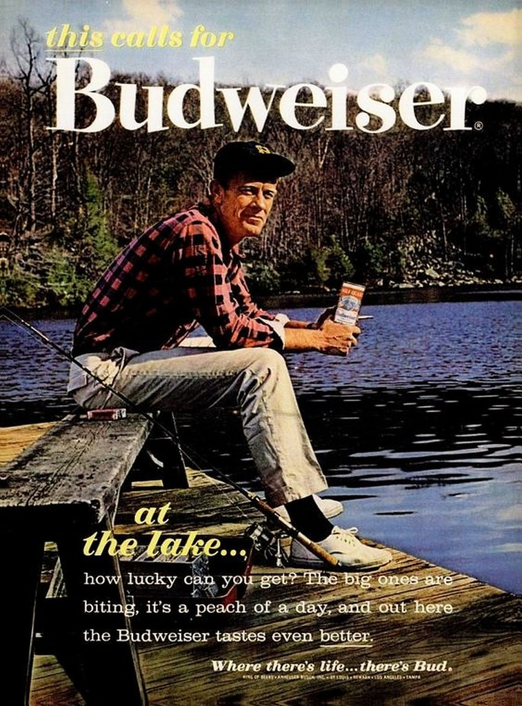 1962-this-calls-for-Budweiser-at-the-lake...