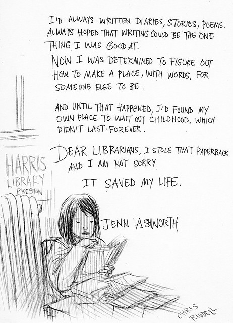 Chris Riddell and Jenn Ashworth 3