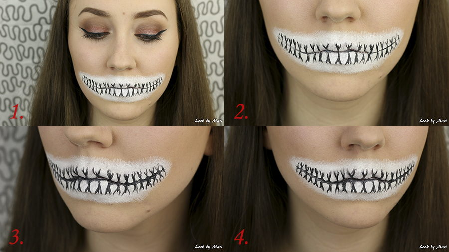 4 skull makeup tutorial halloween step by step easy