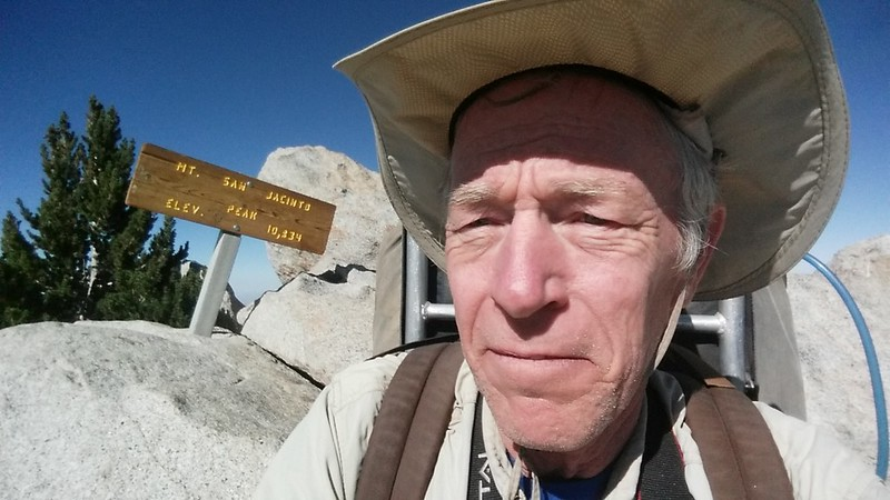 Me on the summit of San Jacinto Peak, elevation 10834 feet