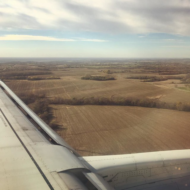 Landing in Kansas City. It's flat here. Real flat.