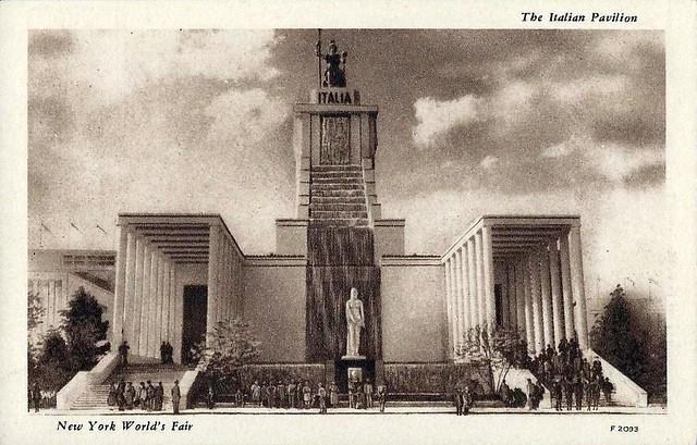 1939 New York World's Fair Postcard - The Italian Pavilion